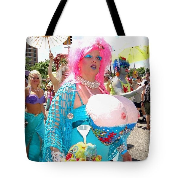 Tote Bag featuring the photograph Busty Mermaid by Ed Weidman