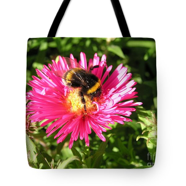 Tote Bag featuring the photograph Busy Bee by Bev Conover