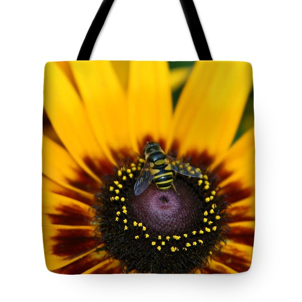 Tote Bag featuring the photograph Busy Bee by Denyse Duhaime