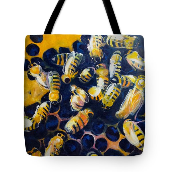 Busy Bees Tote Bag by Rebecca Gottesman