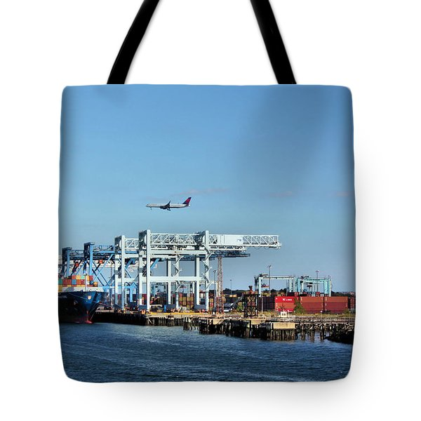 Busy Boston Tote Bag by Kristin Elmquist