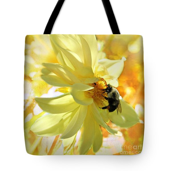Busy Bumble Bee Tote Bag by Judy Palkimas