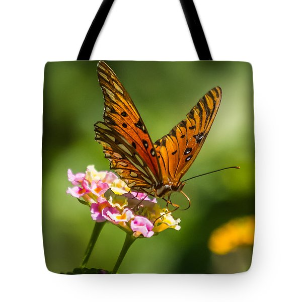 Busy Butterfly Tote Bag by Jane Luxton