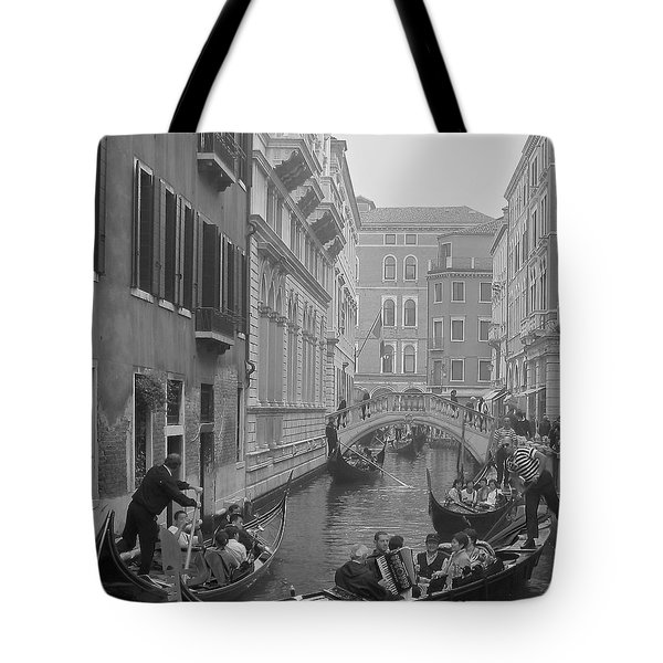 Busy Day In Venice Tote Bag