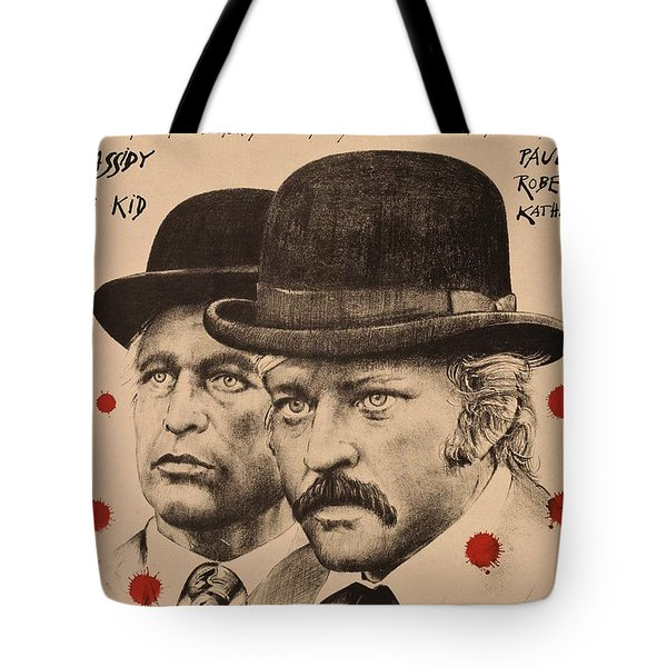 Butch Cassidy And The Sundance Kid Tote Bag by Movie Poster Prints