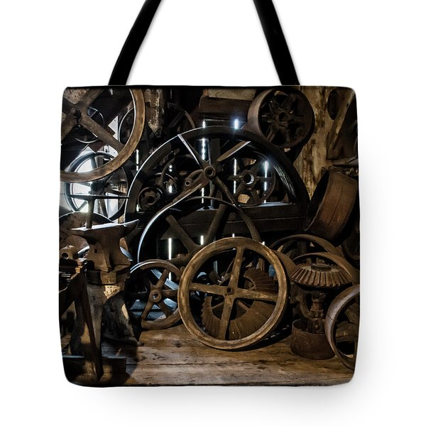 Butte Creek Mill Interior Scene Tote Bag