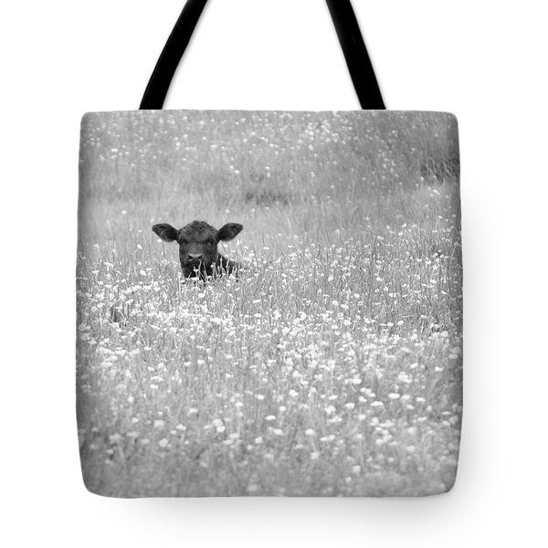 Buttercup In Black-and-white Tote Bag