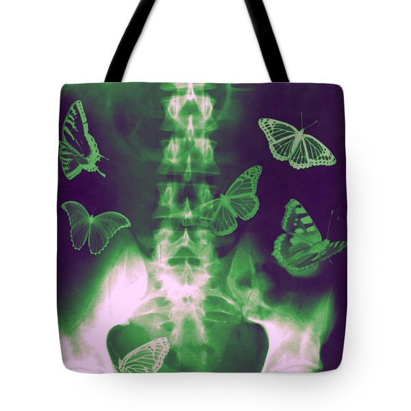 Butterflies In The Stomach Tote Bag