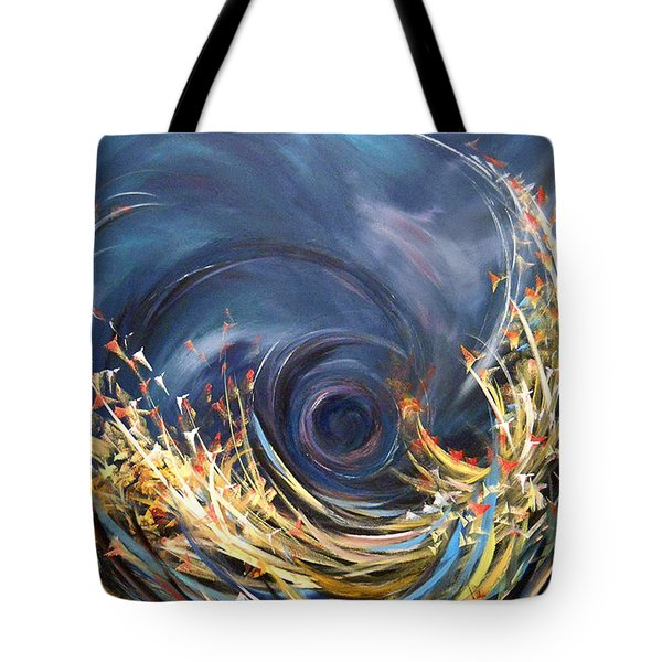 Tote Bag featuring the painting Butterflies Migration by Dorothy Maier