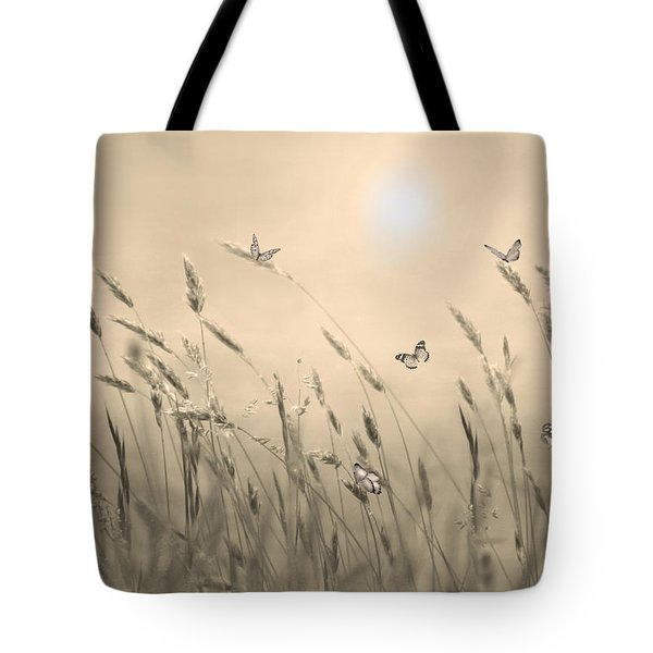 Butterflies Tote Bag by Nina Bradica
