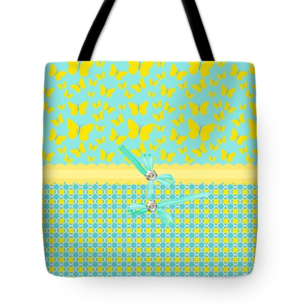 Butterflies Sun Tote Bag by Debra  Miller
