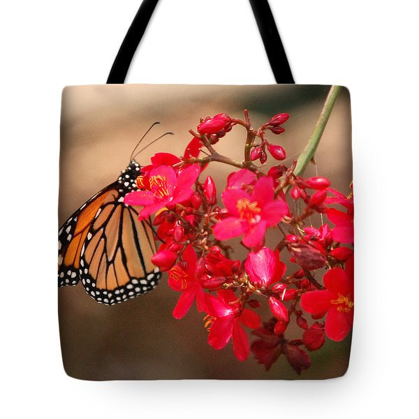 Tote Bag featuring the photograph Butterfly 1 by Leticia Latocki