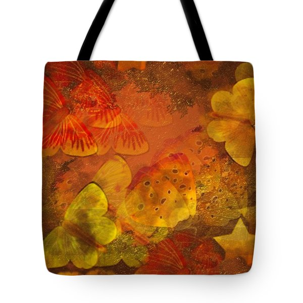 Butterfly Abstract 2 Tote Bag by David Dehner