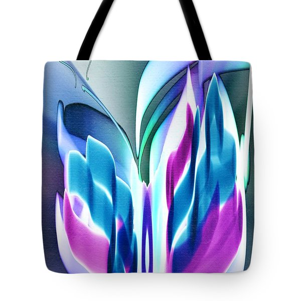 Tote Bag featuring the digital art Butterfly Abstract 3 by Frank Bright