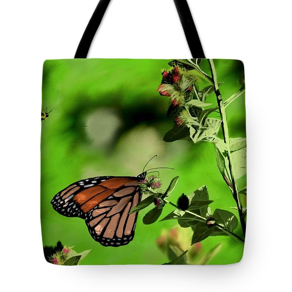 Butterfly And Bee Tote Bag