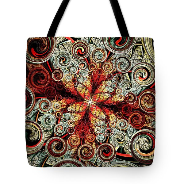 Butterfly And Bubbles Tote Bag by Anastasiya Malakhova