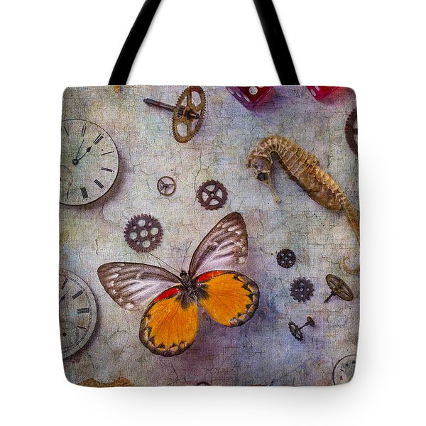 Butterfly And Seahorse Tote Bag