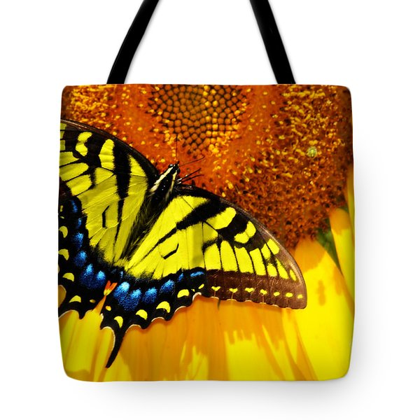 Butterfly And The Sunflower Tote Bag