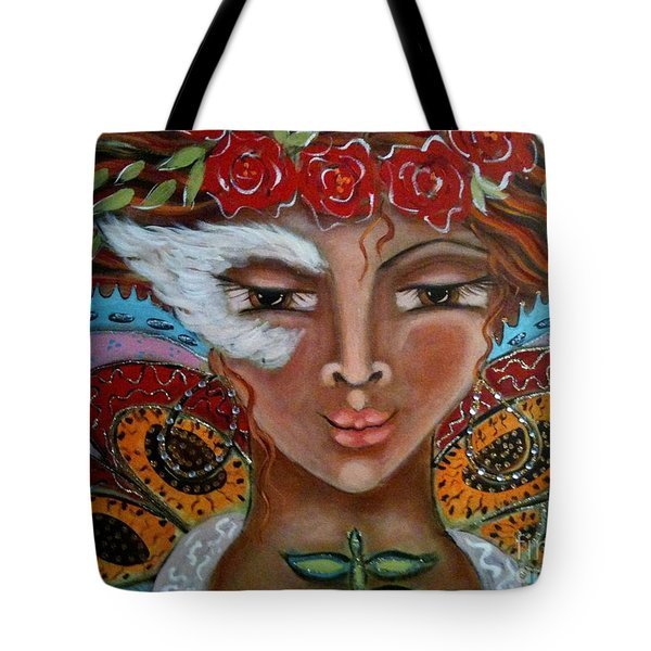 Butterfly Angel Tote Bag by Maya Telford