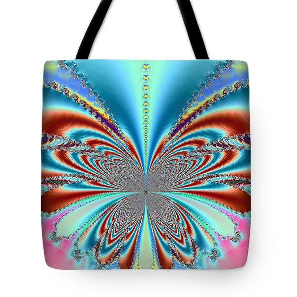Tote Bag featuring the digital art Butterfly Art by Ester  Rogers