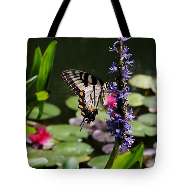 Butterfly At Lunch Tote Bag