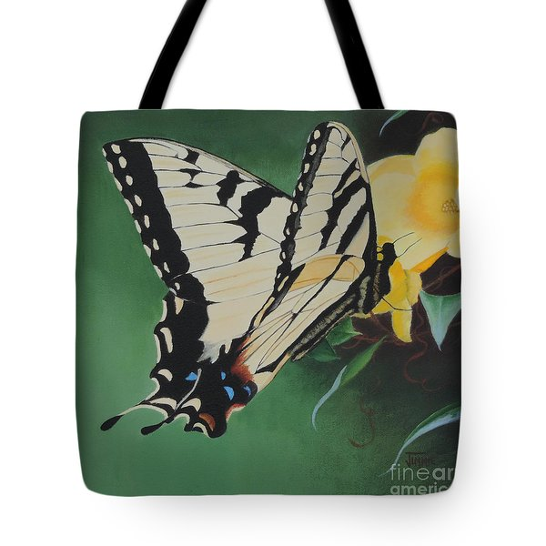 Butterfly At Work Tote Bag