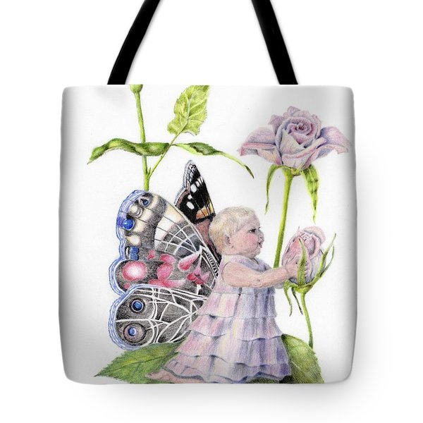 Butterfly Baby Tote Bag by Laurianna Taylor