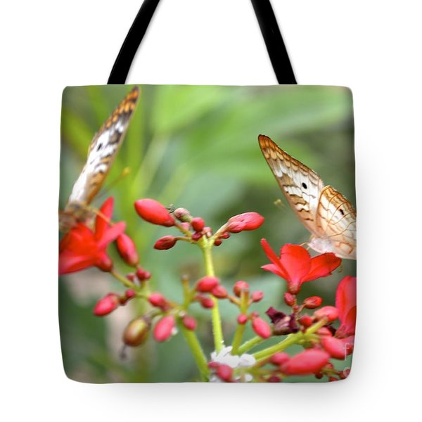 Tote Bag featuring the photograph Butterfly Besties by Carla Carson