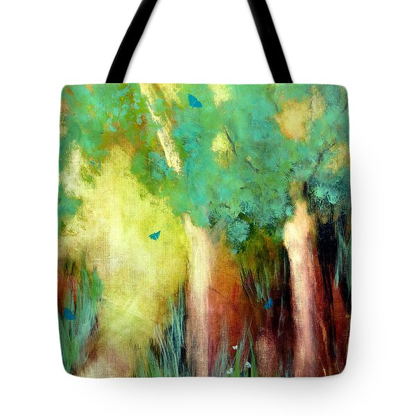 Tote Bag featuring the painting Butterfly Days by Katie Black