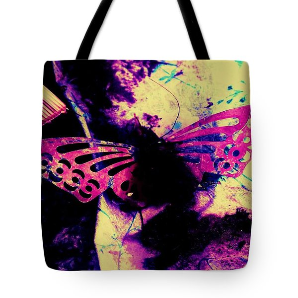 Tote Bag featuring the photograph Butterfly Disintegration  by Jessica Shelton