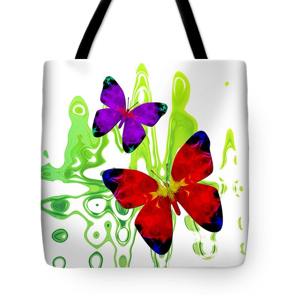 Butterfly Duet - Harmony Tote Bag
