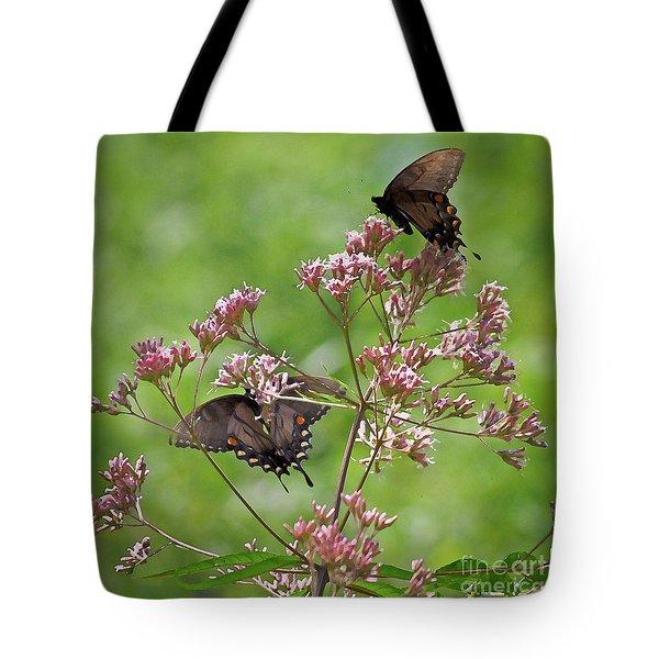 Butterfly Duet  Tote Bag by Kerri Farley