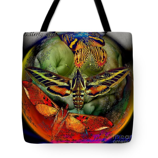 Butterfly Effect Blue Planet Tote Bag