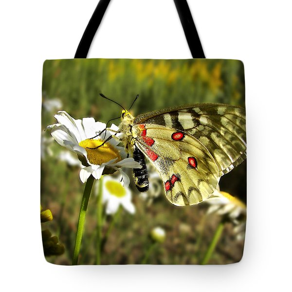 Butterfly Enjoying The Day Tote Bag