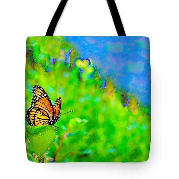 Tote Bag featuring the photograph Butterfly Fantasy by Marianne Campolongo
