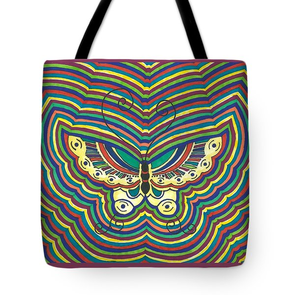 Tote Bag featuring the painting Butterfly Flutter by Susie Weber