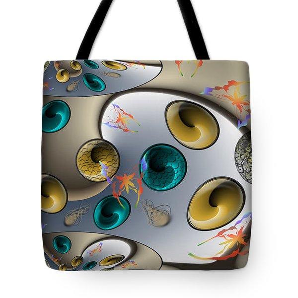 Butterfly Fractal Palette Tote Bag