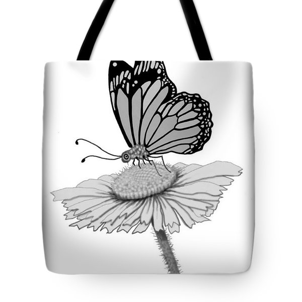 Tote Bag featuring the digital art Butterfly Friends by Carol Jacobs