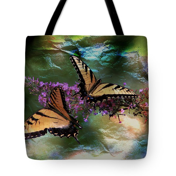 Tote Bag featuring the photograph Butterfly Friends by Ericamaxine Price