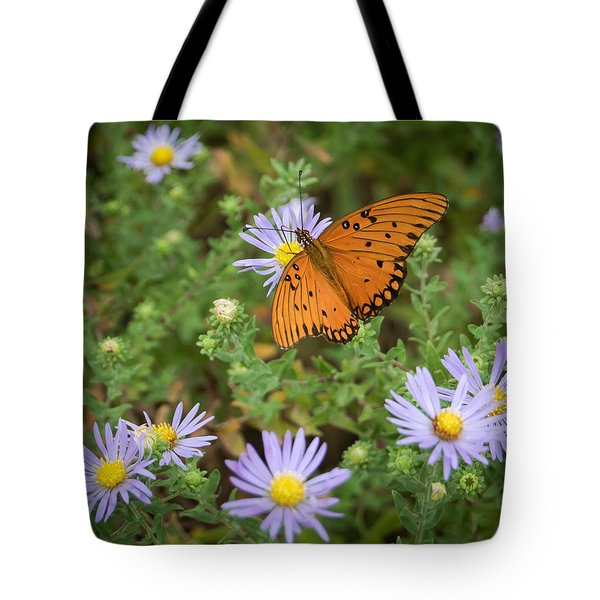 Butterfly Garden Tote Bag by James Barber