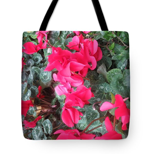 Tote Bag featuring the photograph Butterfly Garden Red Exotic Flowers Las Vegas by Navin Joshi