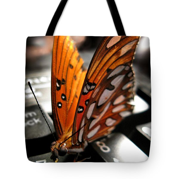 Tote Bag featuring the photograph Butterfly Home At 7 by Jennie Breeze