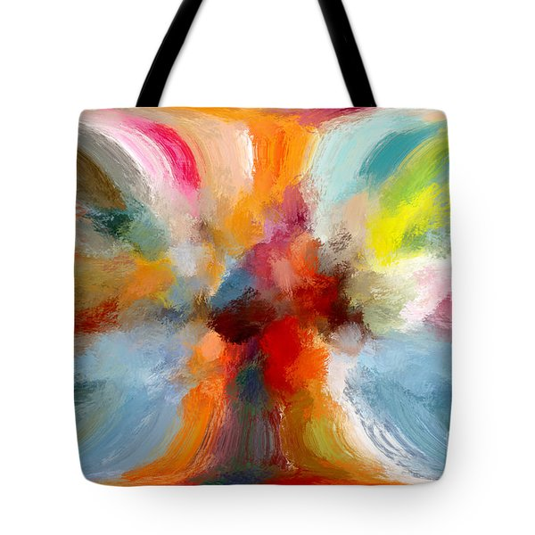 Butterfly In Abstract Tote Bag