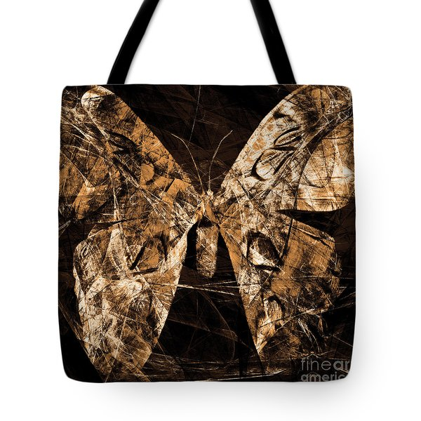 Butterfly In Abstract Dsc2977or Square Tote Bag