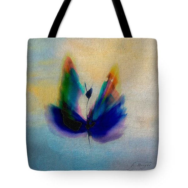 Tote Bag featuring the digital art Butterfly In Color by Frank Bright