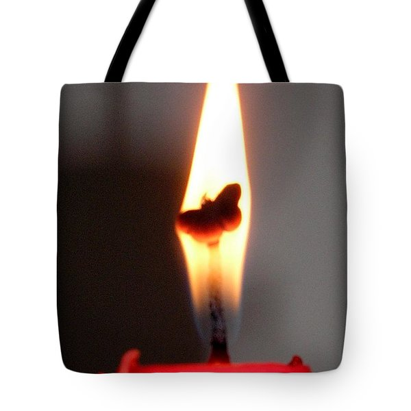 Butterfly Flame Tote Bag