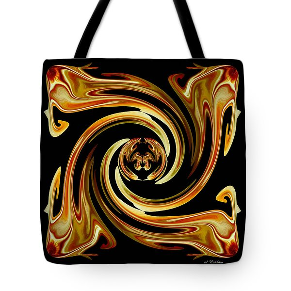 Tote Bag featuring the digital art Butterfly In The Center by rd Erickson