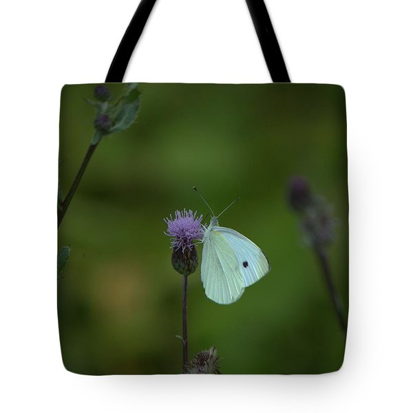 Butterfly In White 2 Tote Bag