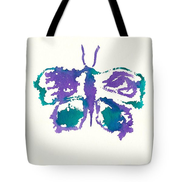 Tote Bag featuring the painting Butterfly Inkblot by Frank Bright
