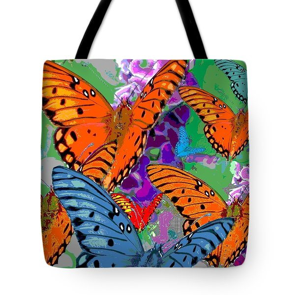 Butterfly Joy Tote Bag by Mary Armstrong